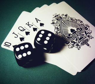 Обои на телефон карты, развлечения, покер, новый, крутые, игральные кости, игра, flush