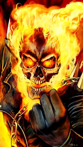 Обои на телефон всадник, призрак, огонь, мотоциклы, johny blaze, hellblazing