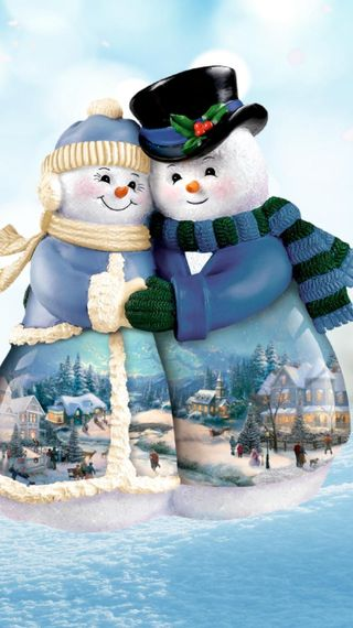 Обои на телефон снег, пара, snowlove