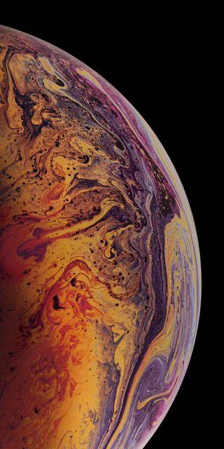 Обои на телефон эпл, мир, космос, айфон, iphone xs, planeta, oscuro, naranja, iphone, ios, fondos ios, apple