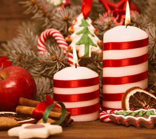 Обои на телефон свечи, украшение, рождество
