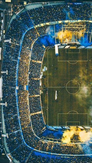 Обои на телефон футбол, стадион, fans