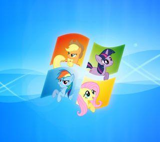 Обои на телефон пони, windows ponies, windows, pc