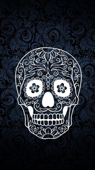 Обои на телефон мексиканские, мексика, череп, цветы, темные, синие, zedgemx