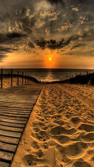 Обои на телефон песок, море