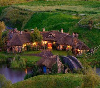 Обои на телефон страна, природа, пейзаж, дом