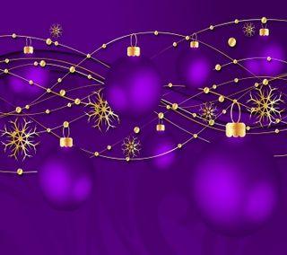 Обои на телефон шары, год, фиолетовые, рождество, новый