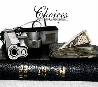 Обои на телефон библия, оружие, деньги, choices
