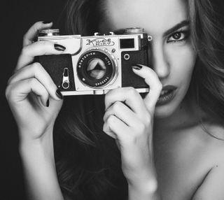 Обои на телефон камера, девушки, girl with a camera