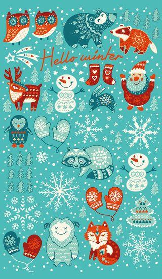 Обои на телефон каникулы, снег, праздник