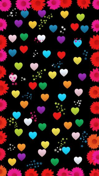 Обои на телефон пух, цветы, фиолетовые, сердце, розовые, мир, маки, золотые, блестящие, hearts and flowers