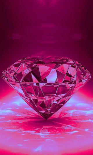 Обои на телефон бриллиант, цветные, розовые