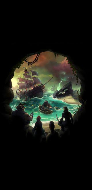 Обои на телефон пираты, череп, море, xbox, thieves, sot, sea of thieves