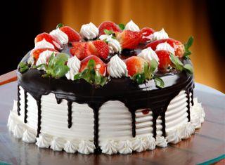 Обои на телефон шоколад, торт, клубника, chocolate cake