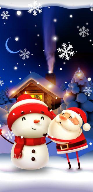 Обои на телефон рождество, ni3ve, juntos