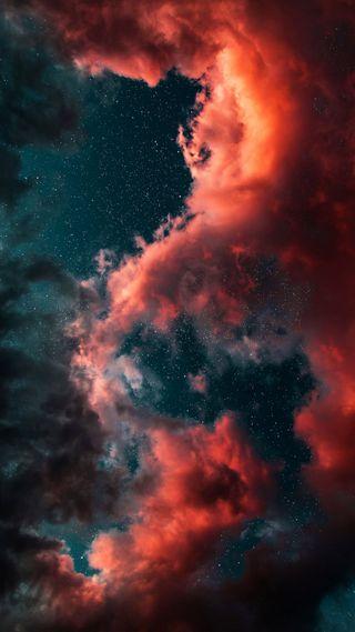 Обои на телефон облака, монтаж, космос, hdr space cloud, hdr edit