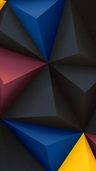 Обои на телефон многоугольник, цветные, формы, треугольник, дизайн