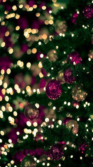 Обои на телефон шары, рождество