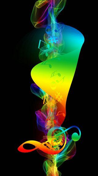 Обои на телефон музыка, цветные