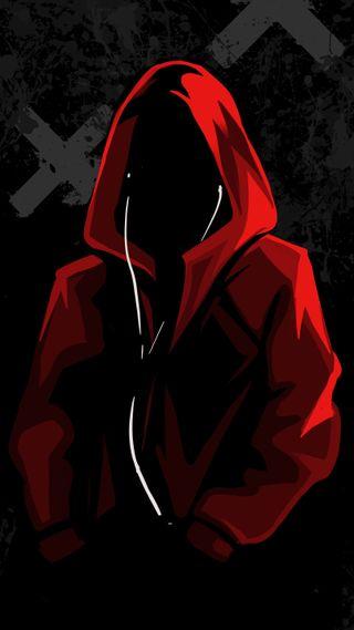 Обои на телефон черные, человек, худи, темные, одиночество, ночь, музыка, красые, капюшон, амолед, red rapping hood, hq, amoled