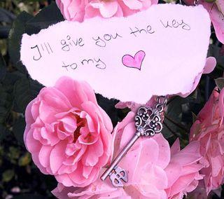 Обои на телефон ключ, сердце, розы, мой, любовь, love, key to my heat