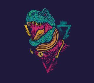 Обои на телефон цветные, забавные, динозавр