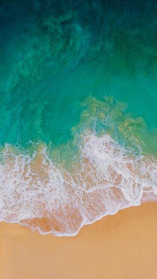 Обои на телефон шаблон, стандартные, природа, пляж, океан, море, зеленые, галактика, андроид, ios 11, ios, galaxy, android
