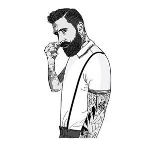 Обои на телефон стиль, черные, хипстер, логотипы, крутые, класс, борода, barbe