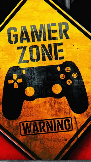 Обои на телефон предупреждение, геймер, логотипы, знаки, zone