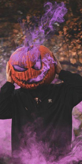 Обои на телефон голова, хэллоуин, тыква, страшные, крутые, pumpkin head