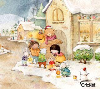Обои на телефон крикет, снег, рождество, праздник, зима, lanterns, Winter, Snow, Holiday, Cricket, Christmas, Cartagena