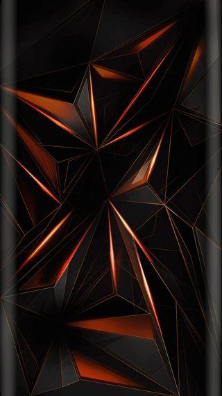 Обои на телефон многоугольник, формы, треугольник, темные, линии, дизайн, геометрия, geometry shapes