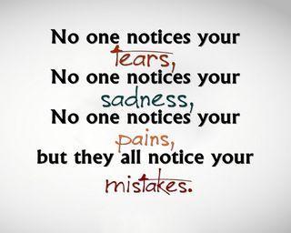 Обои на телефон слезы, поговорка, ошибки, новый, грустные, pains, one, notices, no