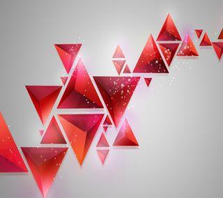 Обои на телефон треугольник, красые