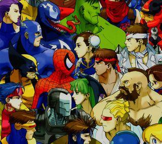 Обои на телефон против, марвел, комиксы, игры, герой, бой, marvelvscapcom, marvel, capcom