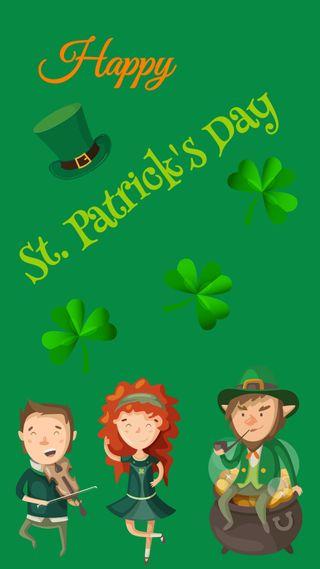 Обои на телефон ирландские, счастливые, патрик, маленький, люди, каникулы, зеленые, день, весна, st patrick s day, little people, leprechauns, leprechaun, happy, green clovers, clovers