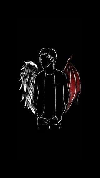 Обои на телефон iphone, love, play boy, любовь, черные, айфон, грустные, мальчик, ангел, дьявол, игра, крыло, люцифер