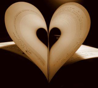 Обои на телефон книга, бумага, слова, сердце, любовь, love