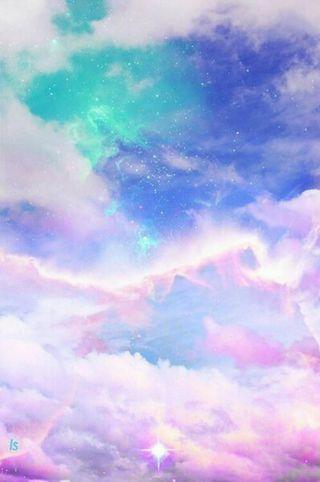 Обои на телефон пастельные, радуга, облака, каваи, pastal