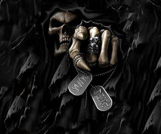 Обои на телефон you are next, темные, череп, ты, ангел, смерть, готические, жуткие