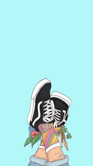 Обои на телефон обувь, vans