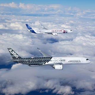 Обои на телефон самолет, небо, nek, airbus 350in the sky