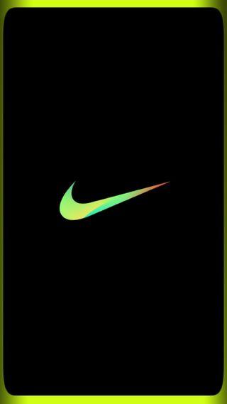 Обои на телефон код, черные, найк, логотипы, золотые, зеленые, граница, буквы, yo, one, nike green border, gente, air