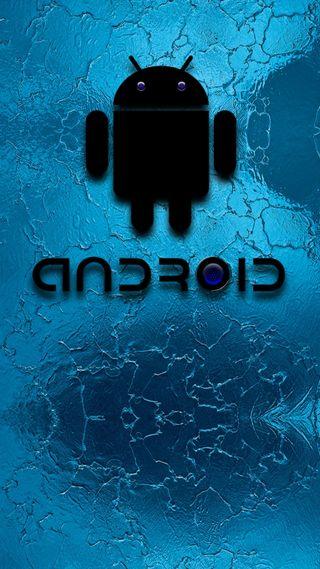 Обои на телефон дроид, черные, темные, стекло, синие, андроид, hd, android