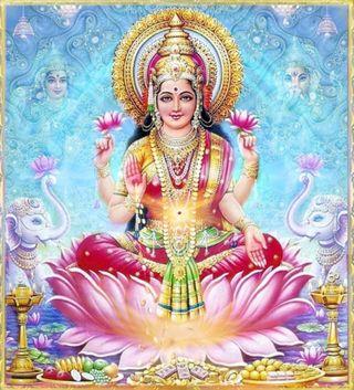 Обои на телефон индийские, lakshmi