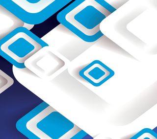 Обои на телефон квадраты, синие, белые, white and blue