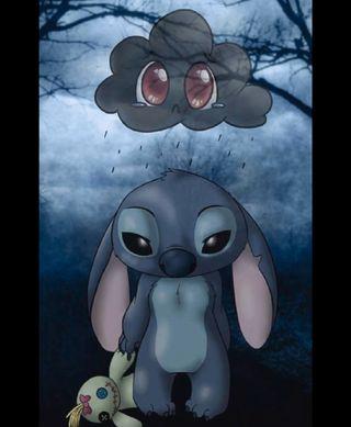 Обои на телефон кролики, стич, грустные, yeet, sad stitch