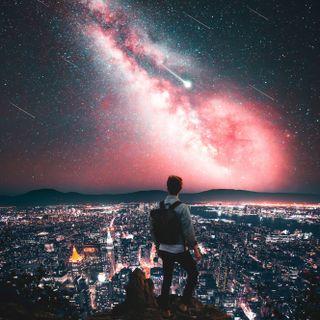 Обои на телефон космос, жизнь, ppl