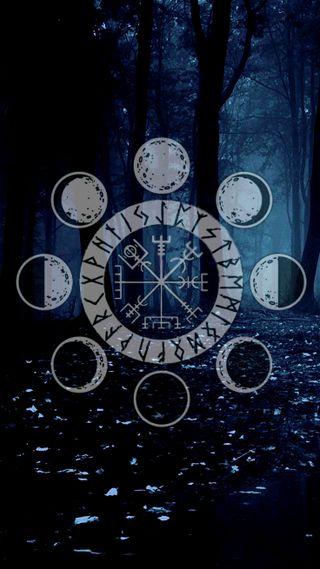 Обои на телефон темные, лес, кельтский, викинг, viking guide