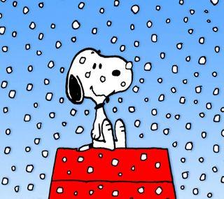 Обои на телефон снупи, собаки, снег, рождество, коричневые, зима, peanuts